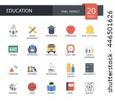 education in flat icons   set 1 ... | Shutterstock .eps vector #446501626