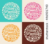 learn english  calligraphy ... | Shutterstock .eps vector #446501740