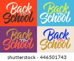 back to school  calligraphy ... | Shutterstock .eps vector #446501743