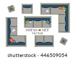 sofa top view. sofas and... | Shutterstock .eps vector #446509054