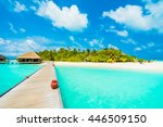 beautiful tropical beach and... | Shutterstock . vector #446509150