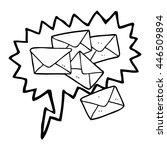 freehand drawn speech bubble... | Shutterstock .eps vector #446509894
