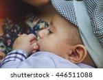 little kid in profile | Shutterstock . vector #446511088
