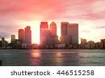 canary wharf office and banking ... | Shutterstock . vector #446515258