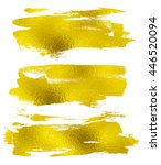 gold texture messy brush... | Shutterstock . vector #446520094