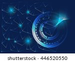 technology abstract background | Shutterstock .eps vector #446520550