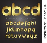 font set vector with gold color ... | Shutterstock .eps vector #446524948