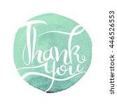 Thank You Handwritten Vector...