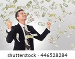 money increase .businessman... | Shutterstock . vector #446528284