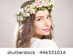 portrait of  a young spring... | Shutterstock . vector #446531014