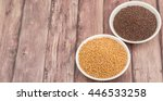 yellow and brown indian mustard ... | Shutterstock . vector #446533258