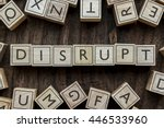 the word of disrupt on building ... | Shutterstock . vector #446533960
