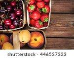 fresh ripe summer berries and... | Shutterstock . vector #446537323