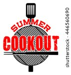 summer cookout is an... | Shutterstock . vector #446560690