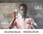 Self Confident Black Scientist...