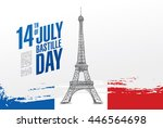 france. 14 th of july. happy... | Shutterstock .eps vector #446564698