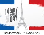 france. 14 th of july. happy... | Shutterstock .eps vector #446564728