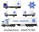 Refrigerator Trucks Set  Vector ...