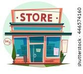 store facade. vector... | Shutterstock .eps vector #446574160