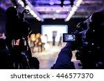 television camera broadcasting...
