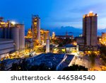 cement industrial building at... | Shutterstock . vector #446584540