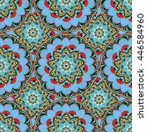 seamless pattern in oriental...   Shutterstock .eps vector #446584960
