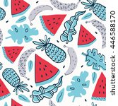 summer background pattern in... | Shutterstock .eps vector #446588170