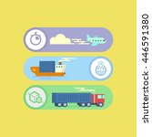 delivery container shipping ... | Shutterstock .eps vector #446591380