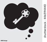 web icon. key | Shutterstock .eps vector #446594440