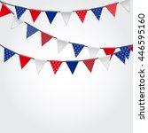 party background with flags... | Shutterstock .eps vector #446595160