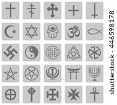 vector set of religious symbols | Shutterstock .eps vector #446598178