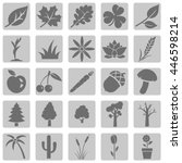 vector set of plants icons | Shutterstock .eps vector #446598214