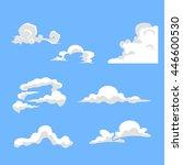set of cartoon cloud variety | Shutterstock .eps vector #446600530