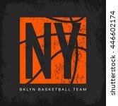 vintage american basketball old ... | Shutterstock .eps vector #446602174