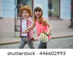 photo of two cute hipsters | Shutterstock . vector #446602993