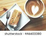Carrot Cake With Coffee Cup