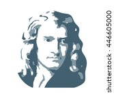 isaac newton  an english... | Shutterstock .eps vector #446605000