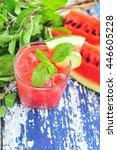 watermelon and cucumber... | Shutterstock . vector #446605228