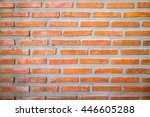 red brick wall texture... | Shutterstock . vector #446605288