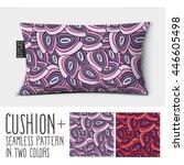 design vector pillow  cushion . ... | Shutterstock .eps vector #446605498