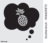 web line icon. pineapple   Shutterstock .eps vector #446605873