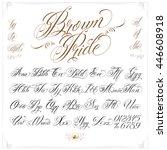 handmade vector calligraphy... | Shutterstock .eps vector #446608918