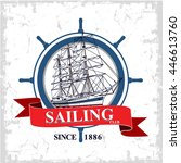 sailing club vector design... | Shutterstock .eps vector #446613760