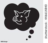 web line icon. pig  livestock | Shutterstock .eps vector #446614840