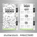 vintage vegetarian menu design. ...   Shutterstock .eps vector #446615680