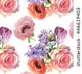 Rose Poppy Tulips Lilac Flower...