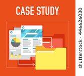 case study illustration | Shutterstock .eps vector #446626030