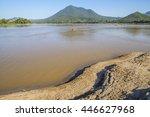 nature landscape river mountain | Shutterstock . vector #446627968