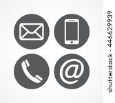 contact icons | Shutterstock .eps vector #446629939