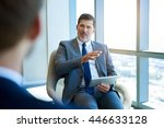handsome and mature corporate... | Shutterstock . vector #446633128